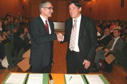 Alain Bonnin, Président de l'université de Bourgogne et Bruno Madelpuech, Directeur du Centre Hospitalier La Chartreuse