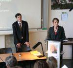 Christelle Creff, directrice régionale des affaires culturelles de Bourgogne et Bruno Madelpuech, directeur du CHLC