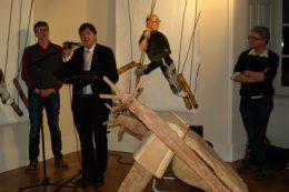 Olivier PEILLARD, président de l'association IS – Bruno MADELPUECH, directeur du CH La Chartreuse - Alain VASSEUR, directeur artistique de l'association IS