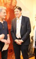 Micheline Jacques Bruno Madelpuech, directeur du CH La Chartreuse, Dr Gérard Milleret, président de la Commission Médicale d'Etablissement du CH La Chartreuse, Alain Vasseur, vice-président de l'association Itinéraires Singuliers,
