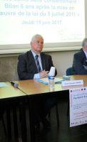 Jean-Michel MALATRASI, Premier Président de la Cour d'Appel de Dijon, Jean-Jacques BOSC, Procureur Général près la Cour d'Appel de Dijon, Bruno LAPLANE, Président du Tribunal de Grande Instance de Dijon et Olivier OBRECHT, Directeur Général adjoint de l'Agence Régionale de Santé Bourgogne Franche-Comté
