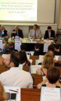 Bruno MADELPUECH Directeur du Centre Hospitalier La Chartreuse, Jean-Michel MALATRASI, Premier Président de la Cour d'Appel de Dijon, Jean-Jacques BOSC, Procureur Général près la Cour d'Appel de Dijon, Bruno LAPLANE, Président du Tribunal de Grande Instance de Dijon et Olivier OBRECHT, Directeur Général adjoint de l'Agence Régionale de Santé Bourgogne Franche-Comté