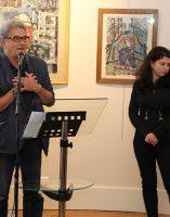 Bruno Madelpuech, directeur du CH La Chartreuse, Darya Suslova, experte des oeuvres de l'artiste, Alain Vasseur, vice-présidentde l'association Itinéraires Singuliers,