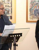 Darya Suslova, experte des oeuvres de l'artiste, Alain Vasseur, vice-président de l'association Itinéraires Singuliers,