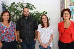 Céline BARRIER (Directrice Appartements de Coordination Thérapeutiques CAT), Philippe BRUN (Médiateur santé pair), Christine JACQUINOT (Administratrice du groupement) et Claire MORICE (Psychiatre).