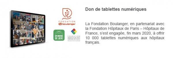 Don de tablettes numériques