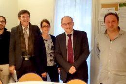 Visite du Préfet Eric DELZANT en compagnie de Bruno MADELPUECH Corinne Billoué Eric DELZANT Olivier Morin