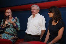Dr Jean-Pierre Capitain – Médecin Psychiatre du CH La Chartreuse et Chantal Biwer – Sophrologue et art-thérapeute, assistés de Hélène Monin – Représentante du cinéma l'Eldorado.