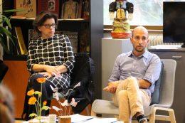 Gisèle Gérard, assistante sociale au CHLC et Thomas Papret assistant social à ELIPSES