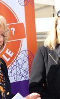Françoise TENENBAUM,adjointe au maire de Dijon, déléguée à la solidarité, à la santé et aux personnes âgées, Catherine GOZZI, présidente du Conseil Local de Santé Mentale Franco Basaglia, adjointe Solidarité au maire de Quetigny,