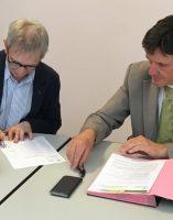 Dr Gérard Milleret président de la CME Bruno Madelpuech directeur du CH La Chartreuse