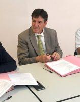 Dr Gérard Milleret président de la CME Bruno Madelpuech directeur du CH La Chartreuse Dr Girod psychiatre