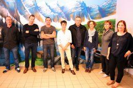 Inauguration fresque micro pasa aux Vergers de La Chartreuse