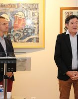 Edouard Bouyé, conservateur général du patrimoine et directeur des Archives Départementales de Côte d'Or, Bruno Madelpuech directeur du CH La Chartreuse