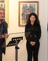 Alain Vasseur, vice-président de l'association Itinéraires Singuliers, Darya Suslova, experte des oeuvres de l'artiste, Bruno Madelpuech, directeur du CH La Chartreuse