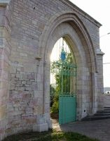 Inauguration de la rénovation de la porte avenue Albert 1er