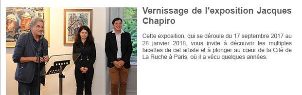 Vernissage de l'exposition Jacques Chapiro