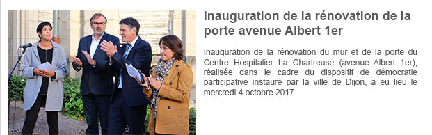 Inauguration de la rénovation de la porte avenue Albert 1er