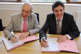 Bruno Madelpuech, directeur du CHLC Dijon, Didier Guidoni, directeur général adjoint du CHU Dijon,
