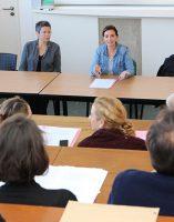 Dr Marie-Claude Vincent, psychiatre et coordonnateur ELIPSES, Céline Barrier, SDAT, thomas papret, assistant social et formateur.