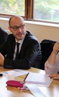 Brice MOREY, Délégué départemental ARS de la Côte-d'Or, en présence de Joël BOURGEOT, Sous-Préfet de Montbard, d'Emmanuelle COINT, représentant le Président du Conseil départemental, d'élus, de représentants d'associations, de professionnels de santé libéraux