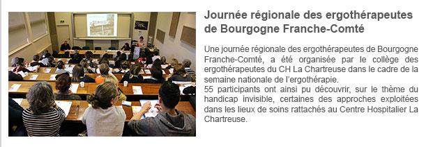 Journée régionale des ergothérapeutes de Bourgogne Franche-Comté