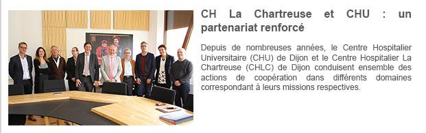 CH La Chartreuse et CHU : un partenariat renforcé