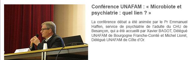 Conférence UNAFAM : « Microbiote et psychiatrie : quel lien ? »