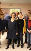 Peyo et Hassen Bouchakour et l'équipe des Vergers de La Charteuse