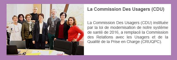 La Commission Des Usagers (CDU)