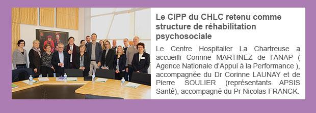 Le CIPP du CHLC retenu comme structure de réhabilitation psychosociale