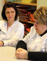 Catherine GAILLARDET – Infirmière technicienne, Amandine MARCHAL – Infirmière technicienne.