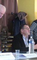 Yves Bertholon(directeur du Foyer du Mail de Chenôve, géré parla Mutualité Française Bourguignonne), Francis Jean,délégué régional UNAFAMBourgogne et Michel Lioret, délégué UNAFAM de Côte d'Or.