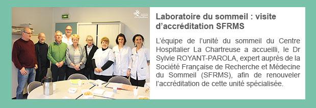 Laboratoire du sommeil : visite d'accréditation SFRMS