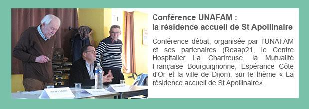 Conférence UNAFAM : la résidence accueil de St Apollinaire