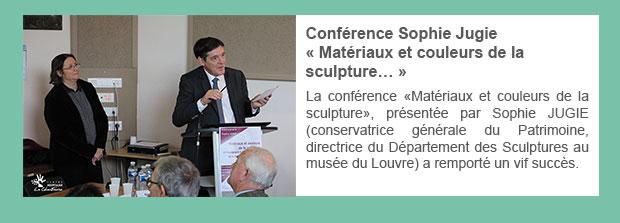 Conférence Sophie Jugie « Matériaux et couleurs de la sculpture… »