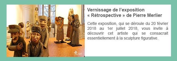 Vernissage de l'exposition « Rétrospective » de Pierre Merlier