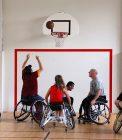 joueurs de la JDA Basket Fauteuil