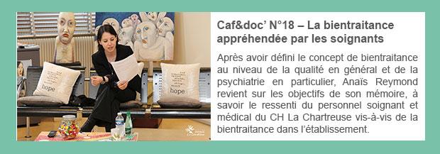 Caf&doc' N°18 – La bientraitance appréhendée par les soignants
