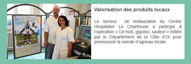 Valorisation des produits locaux au CH La Chartreuse