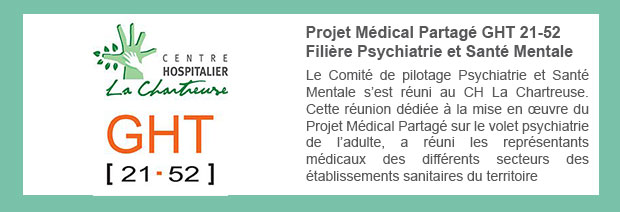 Projet Médical Partagé GHT 21-52 – Filière Psychiatrie et Santé Mentale