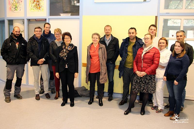 Equipes réunis pour les travaux de la SEDEP