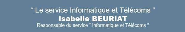 Le service « Informatique et Télécoms » au CHLC