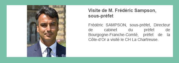 Visite de M. Frédéric Sampson, sous-préfet