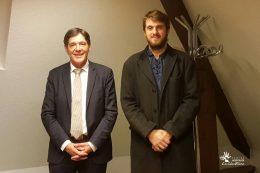 Bruno Madelpuech, directeur du CH La Chartreuse et Jacques Rachet, délégué à la protection des données au GHT 21-52