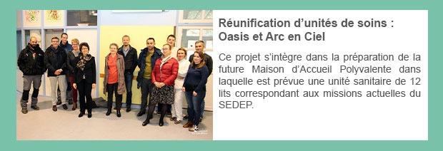 Réunification d'unités de soins : Oasis et Arc en Ciel