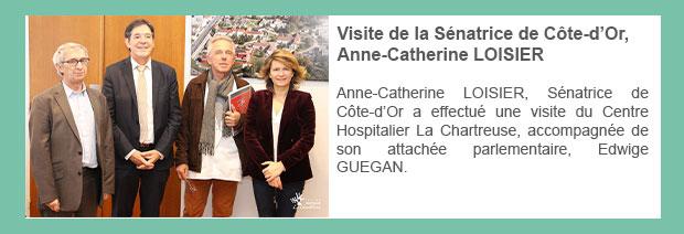 Visite de la Sénatrice de Côte-d'Or, Anne-Catherine LOISIER
