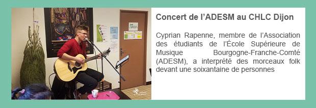 Concert de l'ADESM au CHLC Dijon