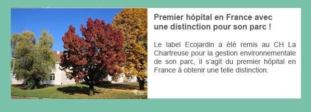 Premier hôpital en France avec une distinction pour son parc !