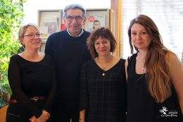 Sylvie Jacquemin, chargée de mission UNAFAM, Michel Lioret, président délégué UNAFAM 21, laure Alexandre-Duband, responsable du Centre de Documentation CHLC et Audrey Ferriez, assistante au Centre de Documentation